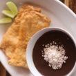 Receita de Pirarucu fresco com açaí e farinha de tapioca